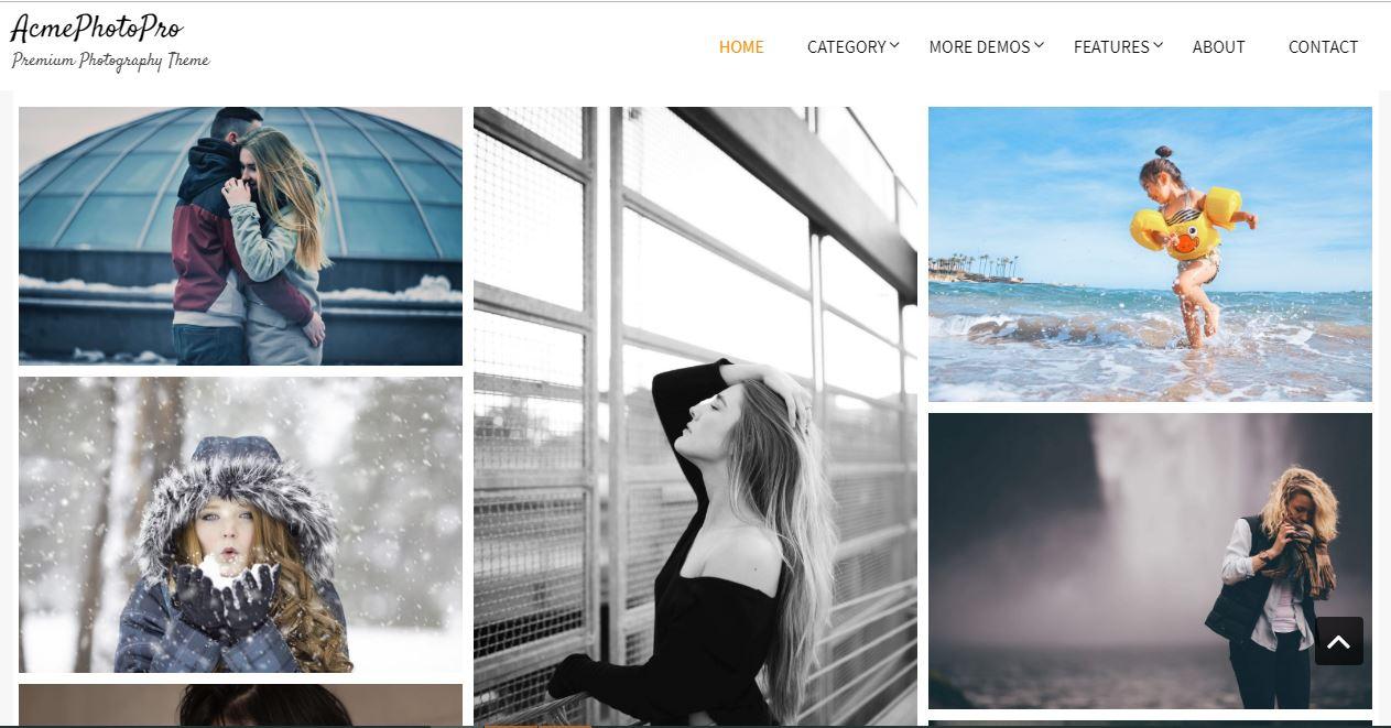 Most popular photographers theme