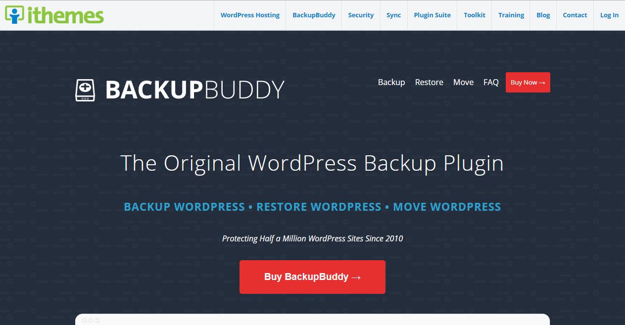 BackupBuddy offers plugin