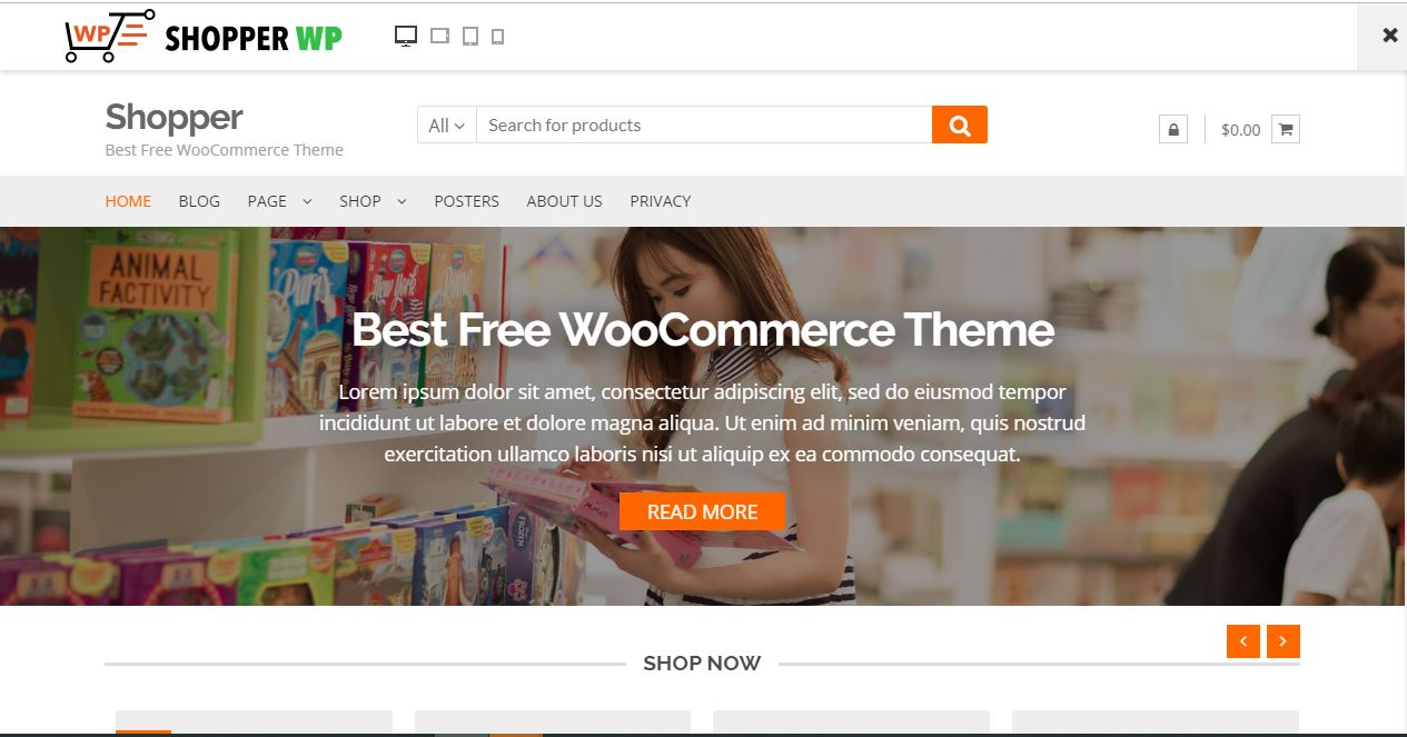best free e-commerce WordPress themes