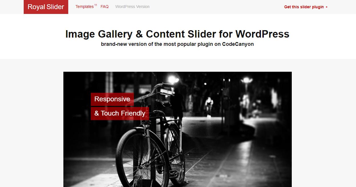 best WordPress RoyalSlider plugins