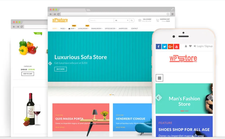 clean free ecommerce themes