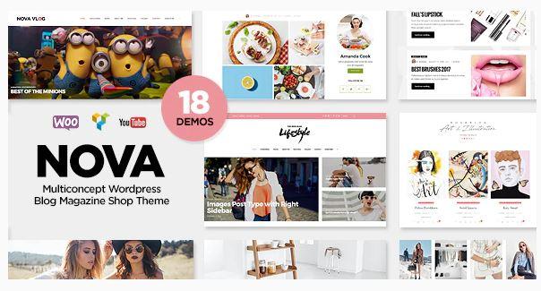 NovaBlog WordPress Theme