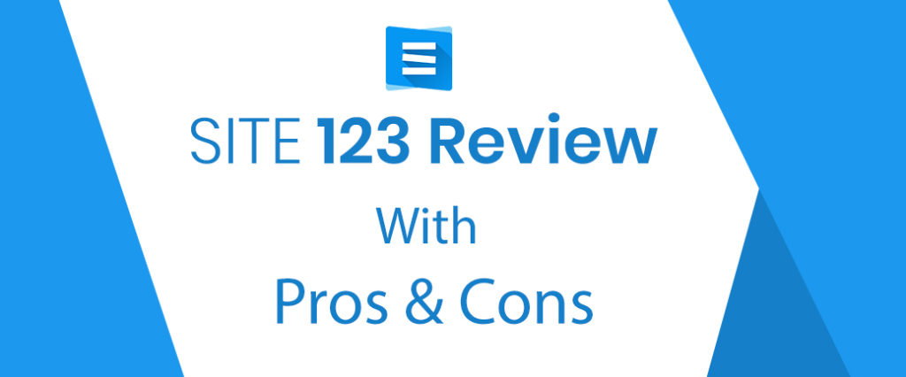 Site123 Review with pros and cons