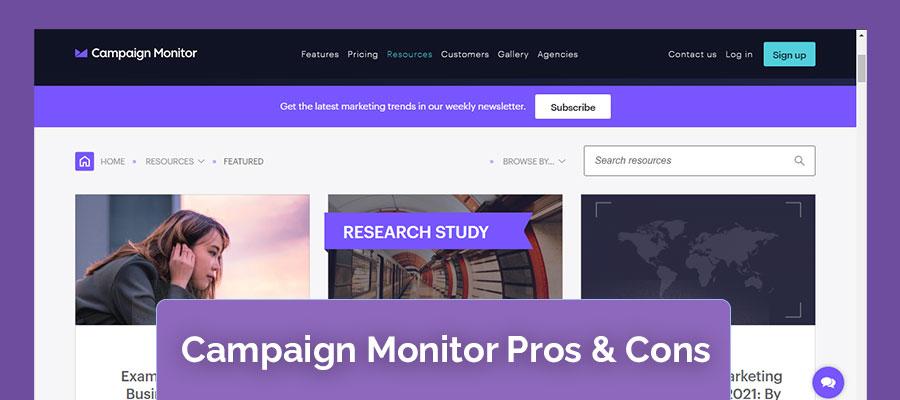 Campaign Monitor Pro & Cons