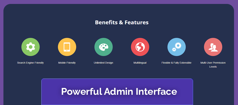 Joomla powerful admin interface