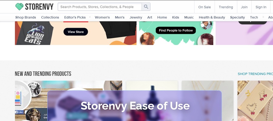 Storenvy ease-of-use
