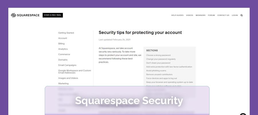 squarespace security