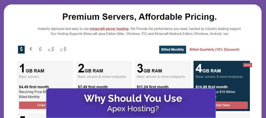 why should you use apex hosting