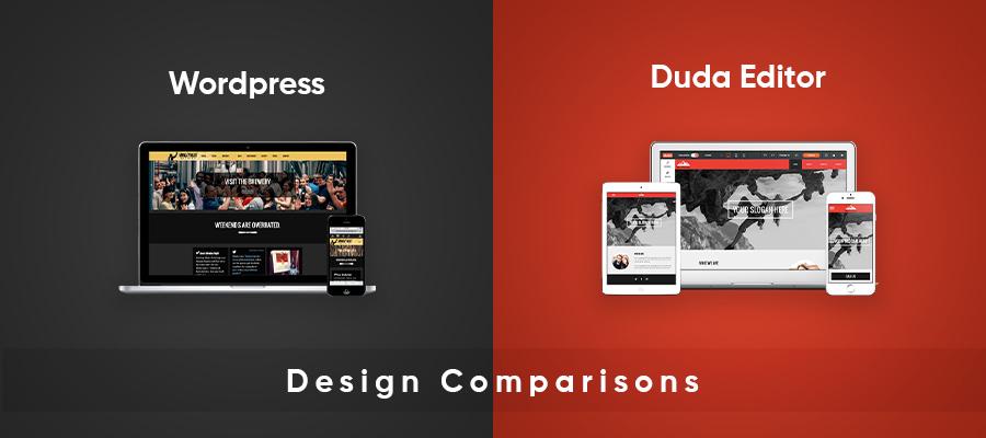 wordpress vs duda design comparison