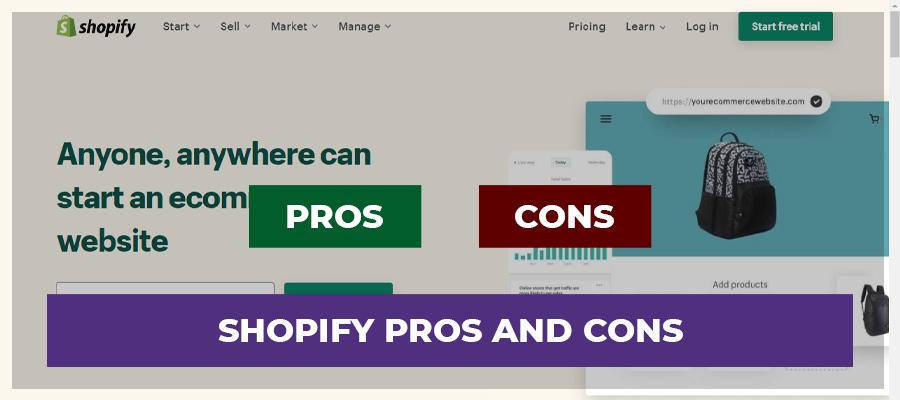 Shopify pros & cons