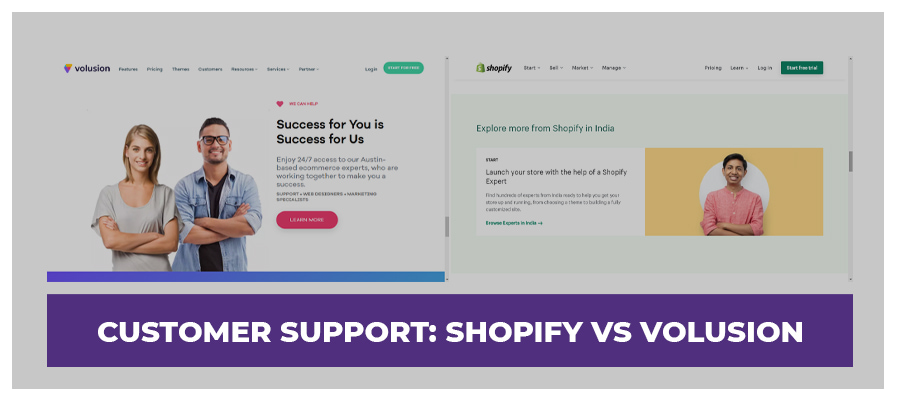 customer support volusion vs shopify