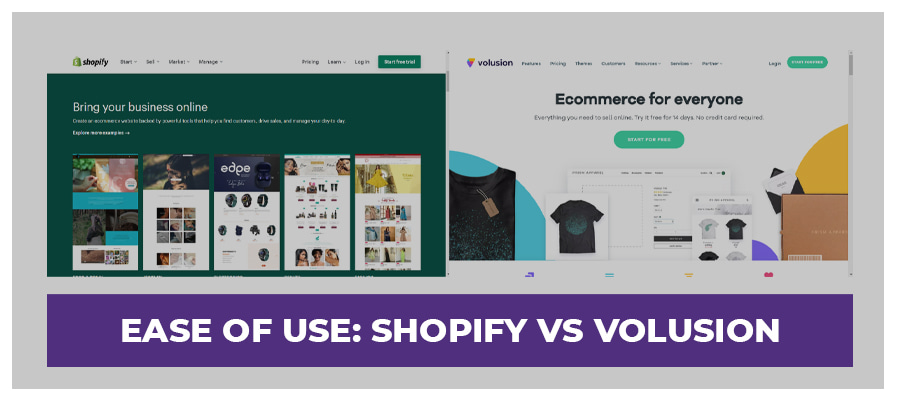 ease of use volusion vs shopify