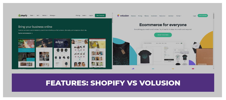 features volusion vs shopify
